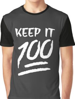 KEEP IT 100 EMOJI emoticons Graphic T-Shirt