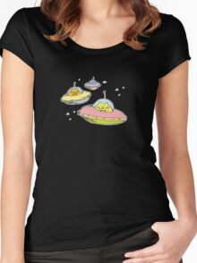 space cats Women's Fitted Scoop T-Shirt