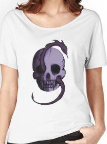 Tête de Mort - Violet Women's Relaxed Fit T-Shirt