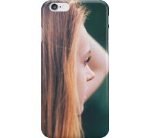 Portrait of yong pretty beautiful girl in soft colors iPhone Case/Skin