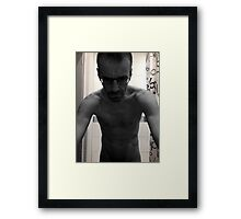 Here comes the mirror man Framed Print