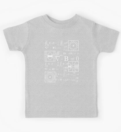 Maxwell's Equations Kids Tee