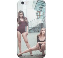 Fashion shoot of two young sexy striptease dancer iPhone Case/Skin