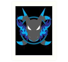 Mega Charizard X Icon Art Print