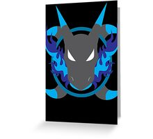 Mega Charizard X Icon Greeting Card