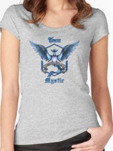 Mystic Team Blue Pokeball Women's Fitted Scoop T-Shirt