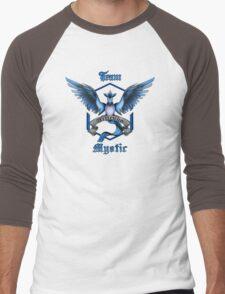 Mystic Team Blue Pokeball Men's Baseball ¾ T-Shirt