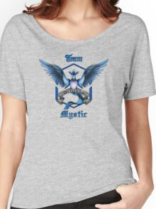 Mystic Team Blue Pokeball Women's Relaxed Fit T-Shirt