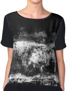 abstract black Chiffon Top