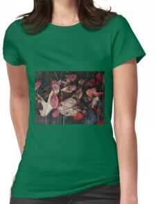 Collage Of Autumn Red Womens Fitted T-Shirt