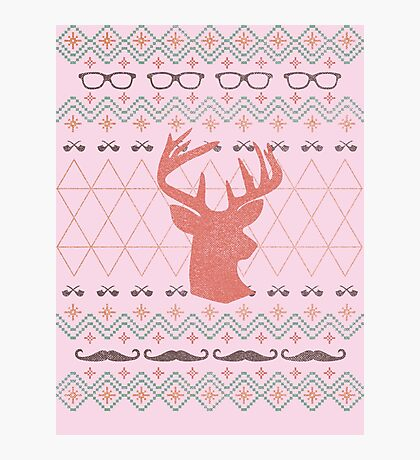 Ugly Hipster Sweater Photographic Print