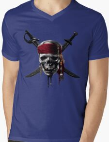 Pirate of Caribbean Mens V-Neck T-Shirt