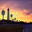 Cape May Lighthouse  Sunset by KellyHeaton