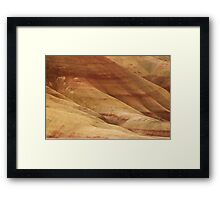 Painted Hills - Up Close And Personal - 1 © Framed Print