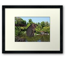 Cannonball Hippo Framed Print