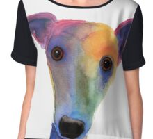 WHIPPET / GREYHOUND 'PANSY' By Shirley MacArthur Chiffon Top