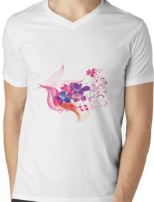 Floral 578 Mens V-Neck T-Shirt