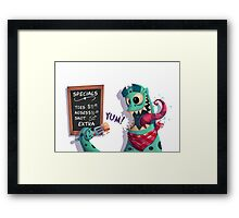 Don't Shut the Door - Page 4 Framed Print