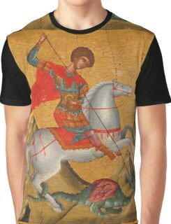 St George and the Dragon Graphic T-Shirt