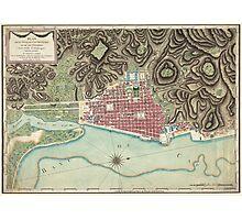 Vintage Map of Cap-Haitien Haiti (1786) Photographic Print