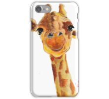 CUTE GIRAFFE 'TOMMY' By Shirley MacArthur iPhone Case/Skin