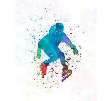 Man roller skater inline in watercolor Photographic Print