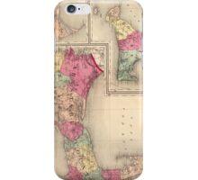 Cape Cod, Martha's Vineyard & Nantucket Map (1871) iPhone Case/Skin