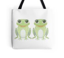 Chummy Twin Frogs Tote Bag