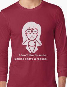 i dont like to smile Long Sleeve T-Shirt