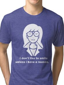 i dont like to smile Tri-blend T-Shirt