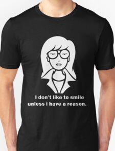 i dont like to smile Unisex T-Shirt