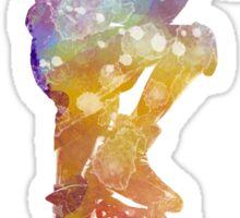 Man roller skater inline 02 in watercolor Sticker