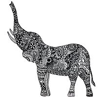 Zentangle Elephant by maddiedrawings