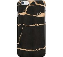 Marble - black with gold streaks iPhone Case/Skin