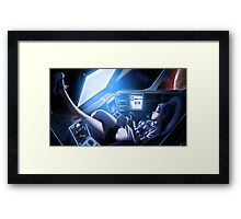 Space Invaders Galaxy Framed Print