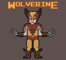 8Bit Wolverine (Brown) Kids Clothes