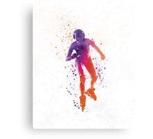 Woman in roller skates 01 in watercolor Metal Print