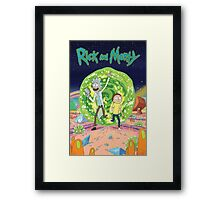 Rick and Morty Poster Framed Print