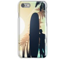 Surfing at Sunrise iPhone Case/Skin