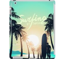 Surfing at Sunrise iPad Case/Skin