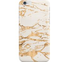 Marble - cream with gold streaks  iPhone Case/Skin