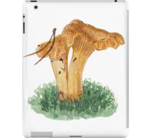 Chanterelle mushrooms in watercolors iPad Case/Skin