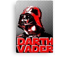 Star Wars Darth Vader Screenprint - Red Canvas Print