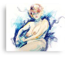 Isabella - Pastel Life Drawing Canvas Print