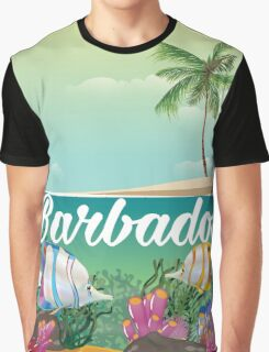 Barbados underwater travel poster Graphic T-Shirt