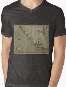 Vintage Map of The Carolinas (1702) Mens V-Neck T-Shirt