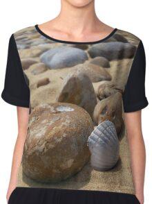 Pebbles and Shell Chiffon Top