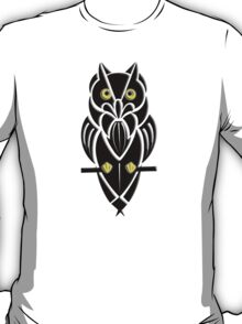 Tribal Owl with Golden Eyes T-Shirt