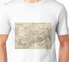 Vintage Map of Porto Portugal (1835) Unisex T-Shirt