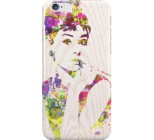Audrey Hepburn in Watercolor iPhone Case/Skin